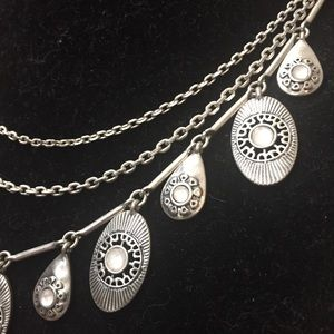 Lucky Brand Jewelry - Lucky Brand Silver Layer Boho Chain Necklace